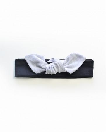 Headband Lili szary na czarnym