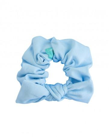 Frotka do włosów z kokardką Błękitna