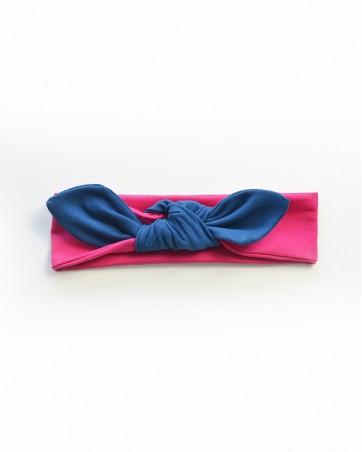 Headband Lili granat na różu