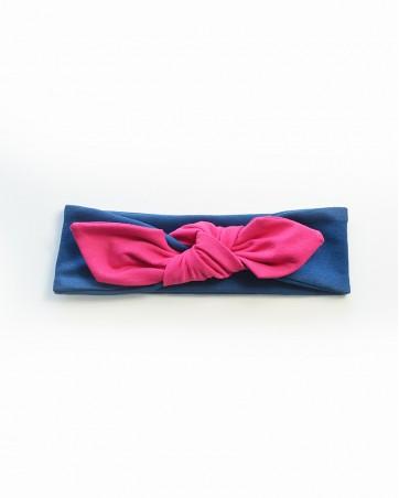 Headband Lili róż na granacie