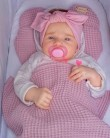 Opaska dla niemowląt Brudny Róż