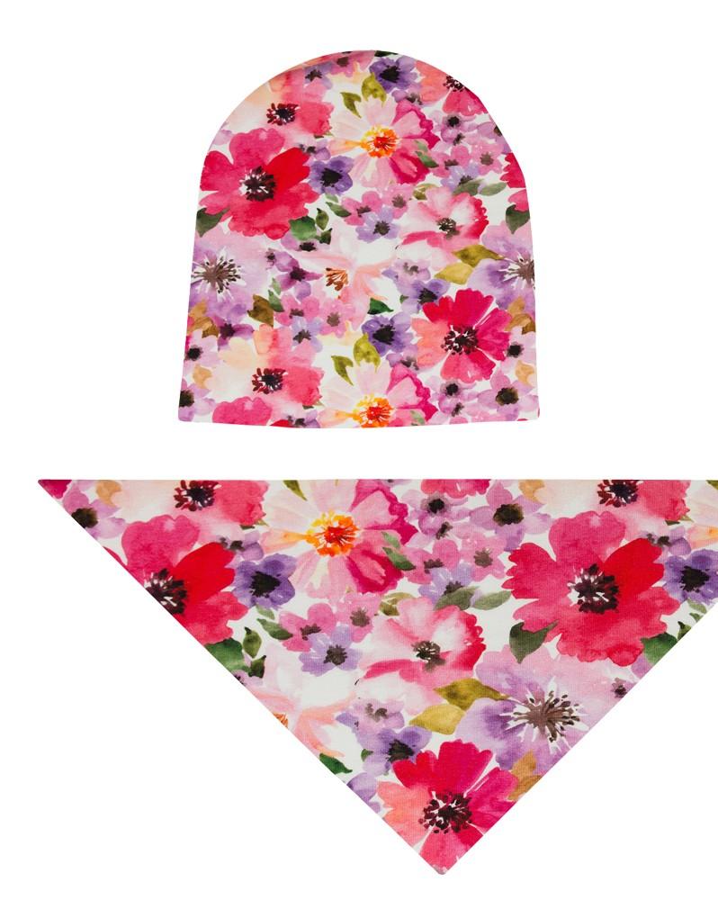 Komplet czapka i chusta dla dziewczynki LILILO Migotka
