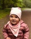 Komplet czapka i chusta dla dziewczynki LILILO Brudy Róż