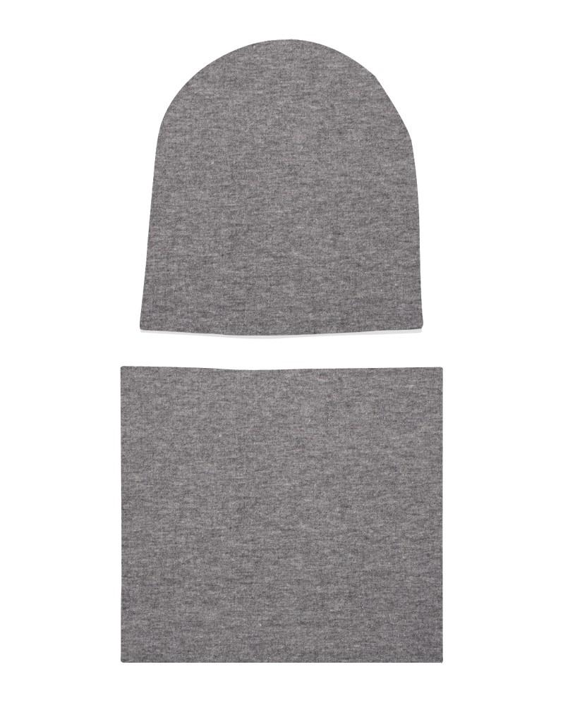 Komplet czapka i komin dla chłopca LILILO Szary