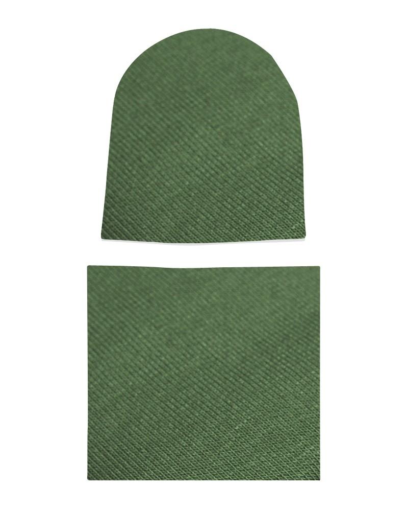 Komplet czapka i komin dla chłopca LILILO Khaki