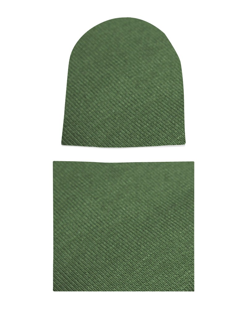 Komplet czapka i komin Khaki