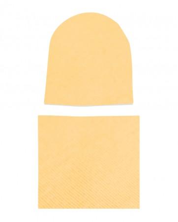 Komplet czapka i komin Słońce