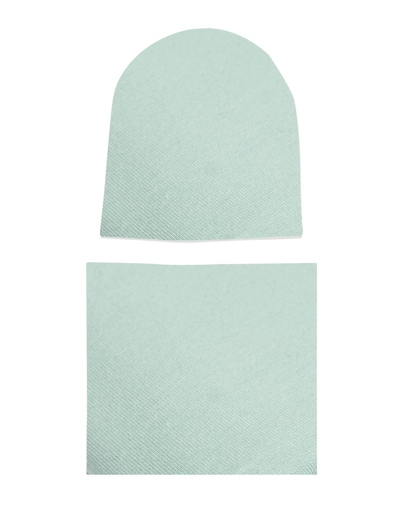 Komplet czapka i komin dla dziewczynki LILILO Brudna mięta