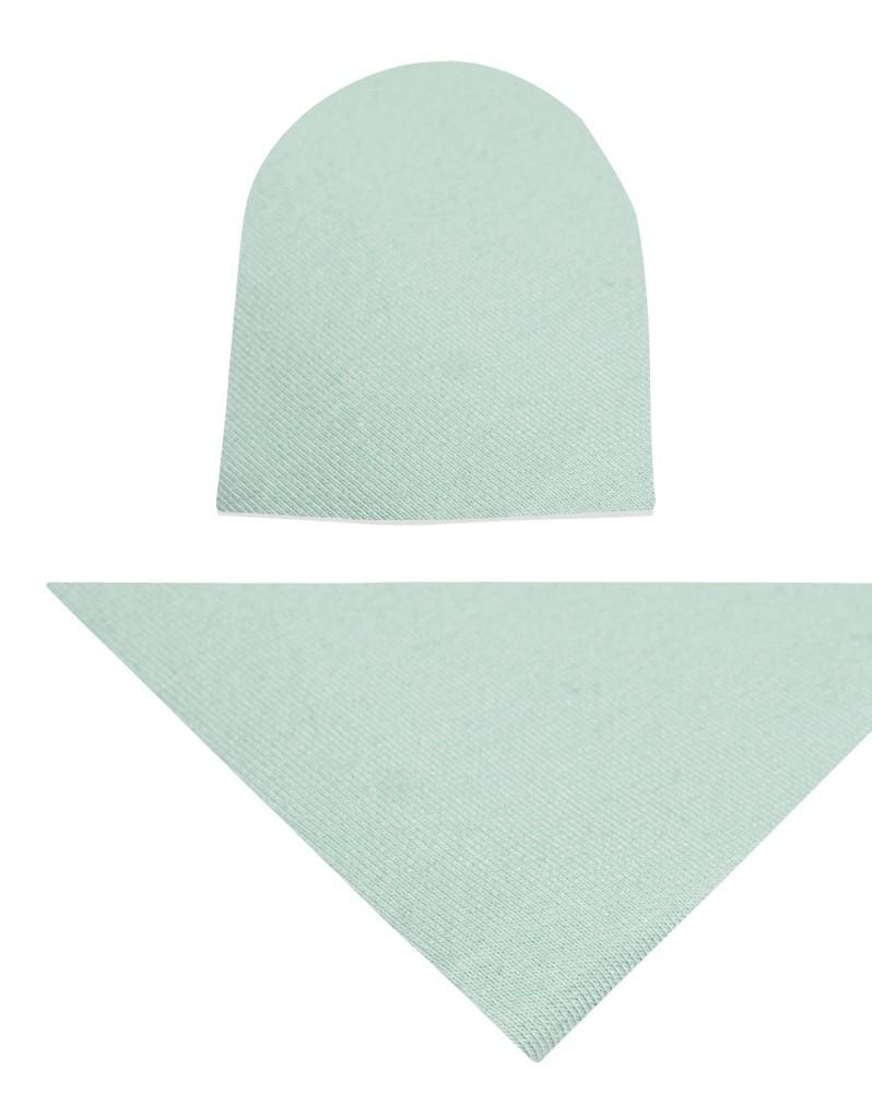 Komplet czapka i chusta dla dziewczynki LILILO Brudna mięta