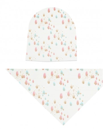 Komplet czapka i chusta dla dziewczynki LILILO Azalea