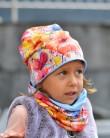 Komplet czapka i chusta dla dziewczynki LILILO Dahlia