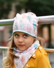 Komplet czapka i chusta dla dziewczynki LILILO Davos
