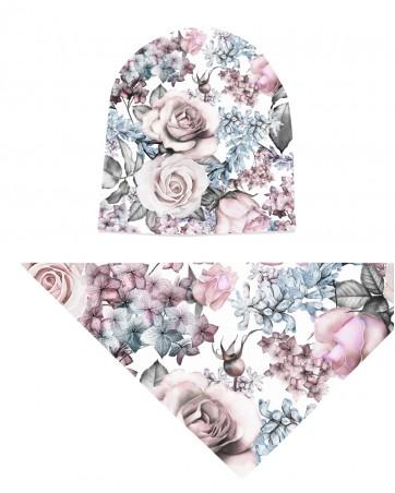 Komplet czapka i chusta dla dziewczynki LILILO Rose