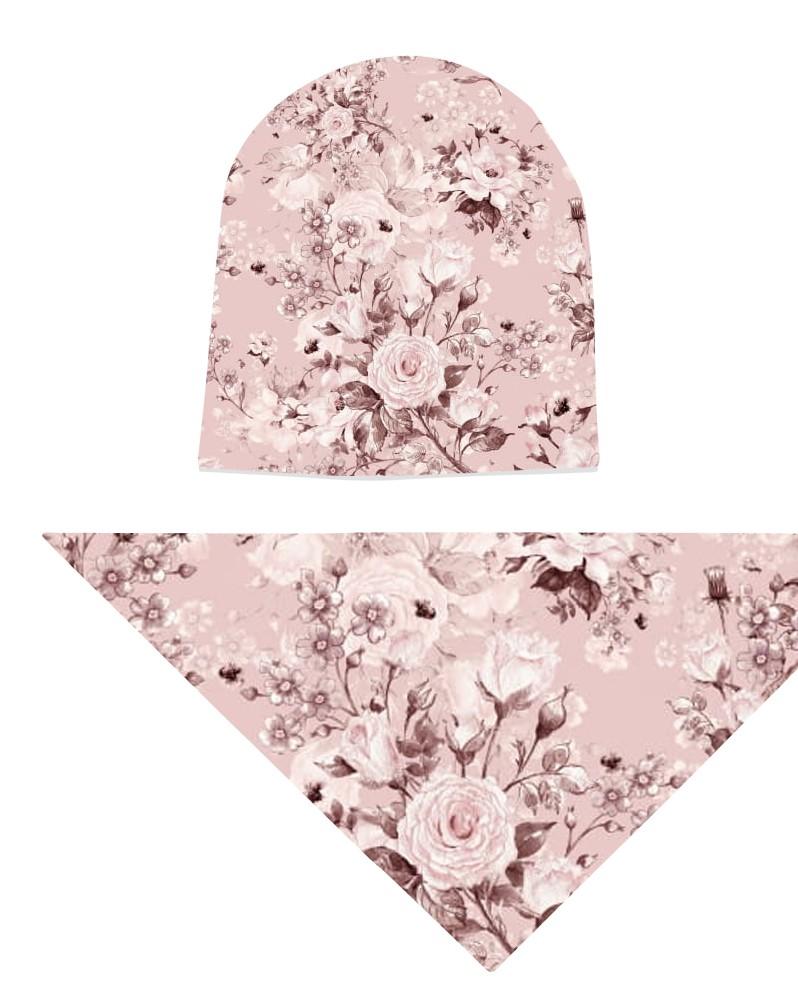 Komplet czapka i chusta dla dziewczynki LILILO Verimo Roses