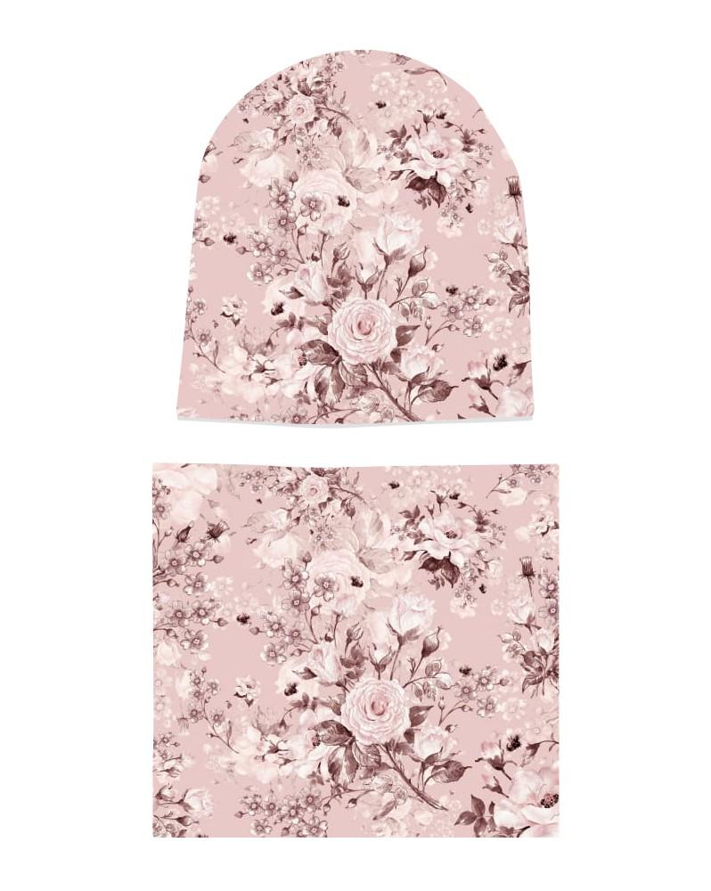 Komplet czapka i komin dla dziewczynki LILILO Verimo Roses