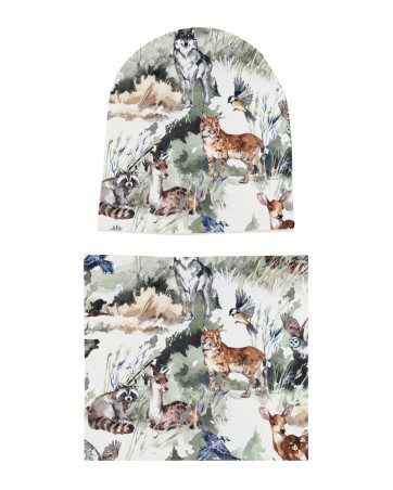 Komplet czapka i komin Foggy Forest
