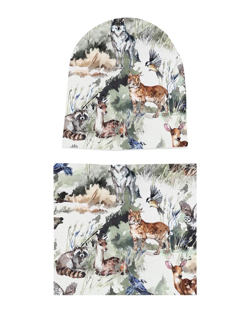 Komplet czapka i komin dla chłopca LILILO Foggy Forest