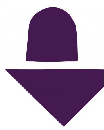 Komplet czapka i chusta dla dziewczynki LILILO Śliwka