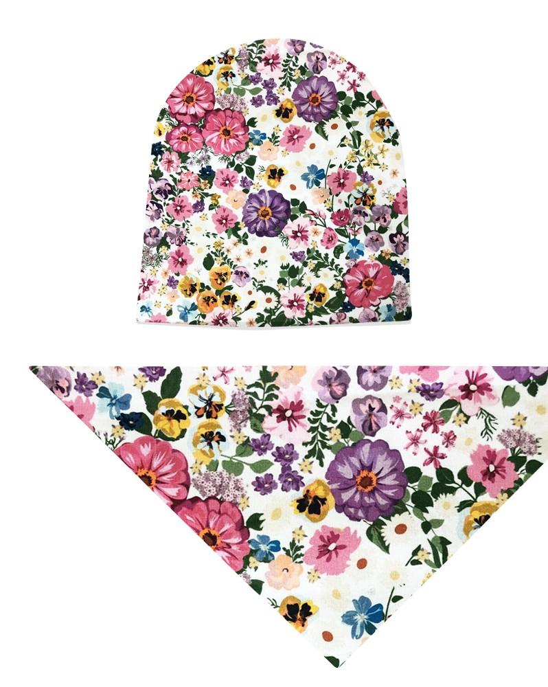 Komplet czapka i chusta dla dziewczynki LILILO Malaga