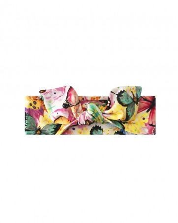 Opaska dla dziewczynki LILILO Kolorowe Motyle rozmiar-40 cm od ręki