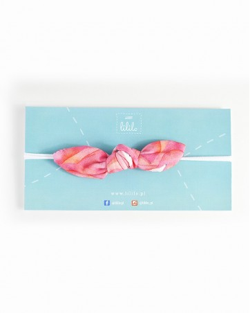 Headband Zakochane flamingi na gumce