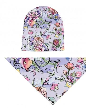 Komplet czapka i chusta dla dziewczynki LILILO Magic Garden