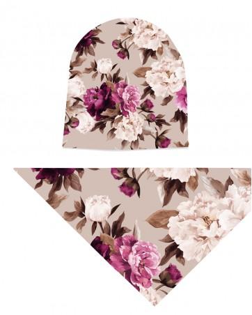 Komplet czapka i chusta dla dziewczynki LILILO Ipanema