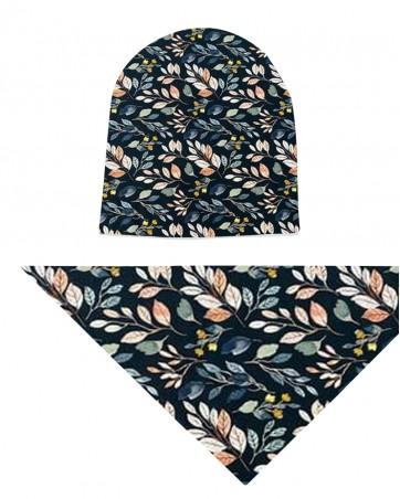 Komplet czapka i chusta dla dziewczynki LILILO Rego