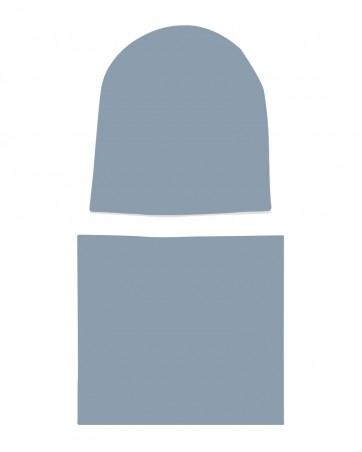 Komplet czapka i komin dla dziewczynki LILILO Brudny Błękit