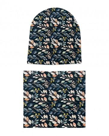 Komplet czapka i komin dla dziewczynki LILILO Rego
