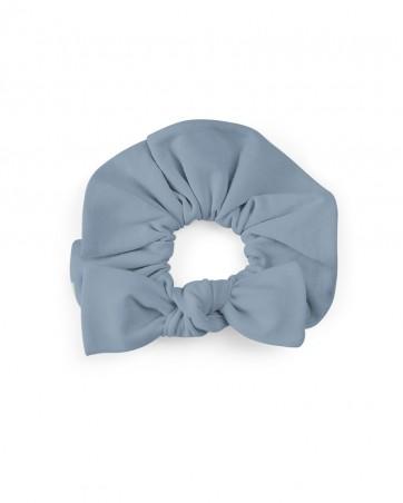 Frotka do włosów z kokardką Brudny Błękit