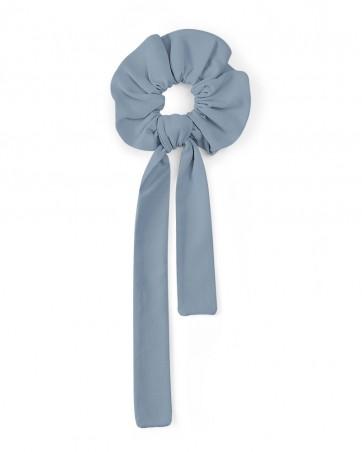 Frotka do włosów z wstążką LILILO Brudny Błękit