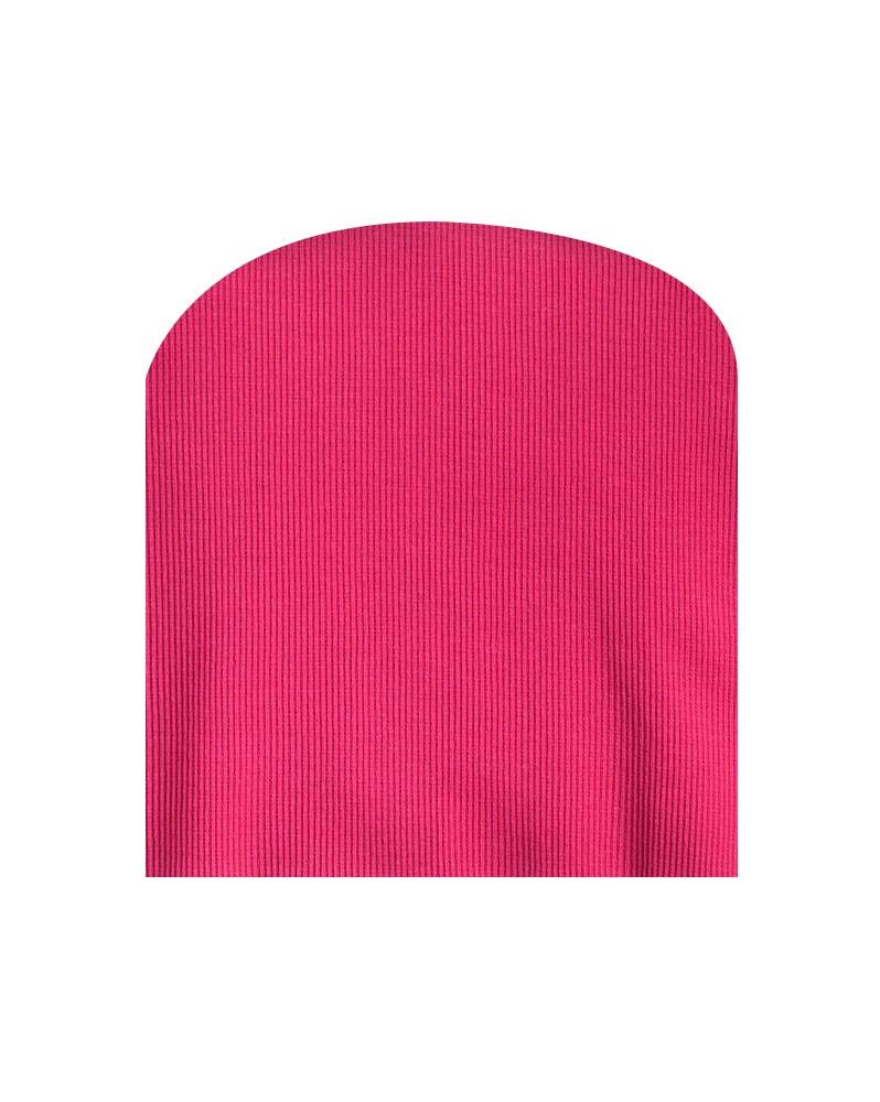 Czapka prążkowana różowa