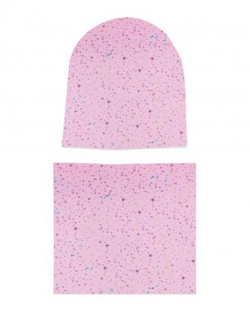 Komplet czapka i komin dla dziewczynki LILILO Alicja