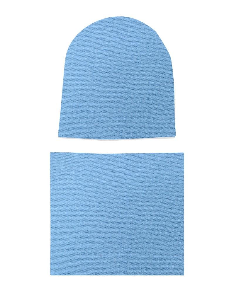 Komplet czapka i komin dla chłopca LILILO Błękitny