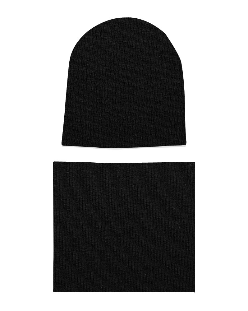 Komplet czapka i komin dla chłopca LILILO Czarny