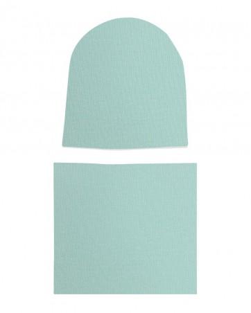Komplet czapka i komin dla dziewczynki LILILO Miętowy