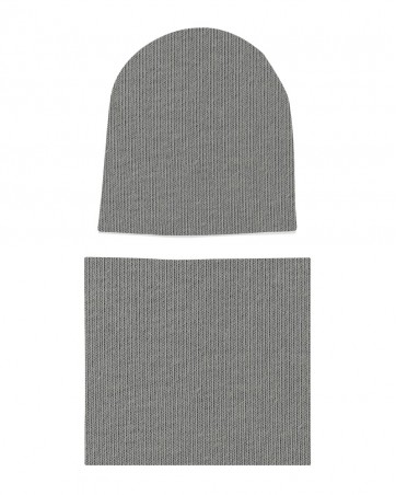 Komplet czapka i komin Szary