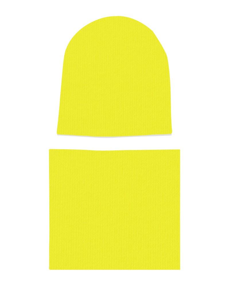 Komplet czapka i komin dla dziewczynki LILILO Żółty