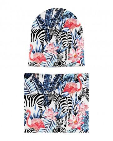 Komplet czapka i komin Zebra w Tropikach