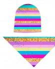 Komplet czapka i chusta dla dziewczynki LILILO Tęcza