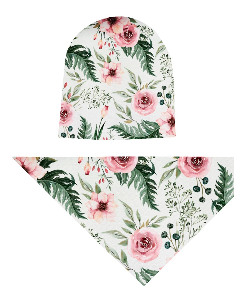 Komplet czapka i chusta dla dziewczynki LILILO Pastelowa Magnolia