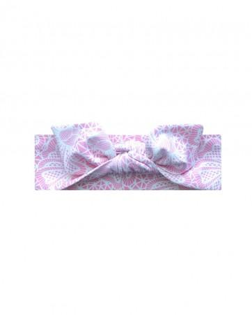 Opaska dla dziewczynki LILILO Różowa Koronka